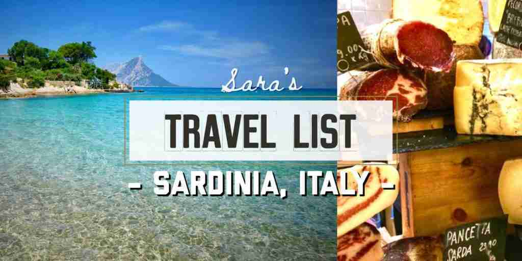 Sara's Travel List - Sardinia, Italy