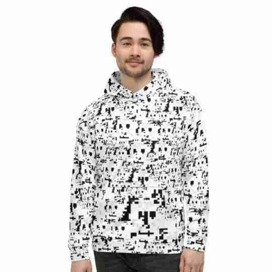 Anti Face Recognition Pattern Hoodie