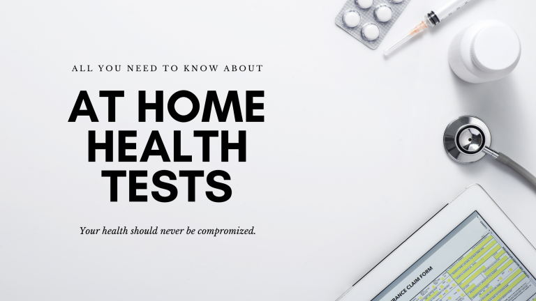 AT HOME HEALTH TESTS COVER