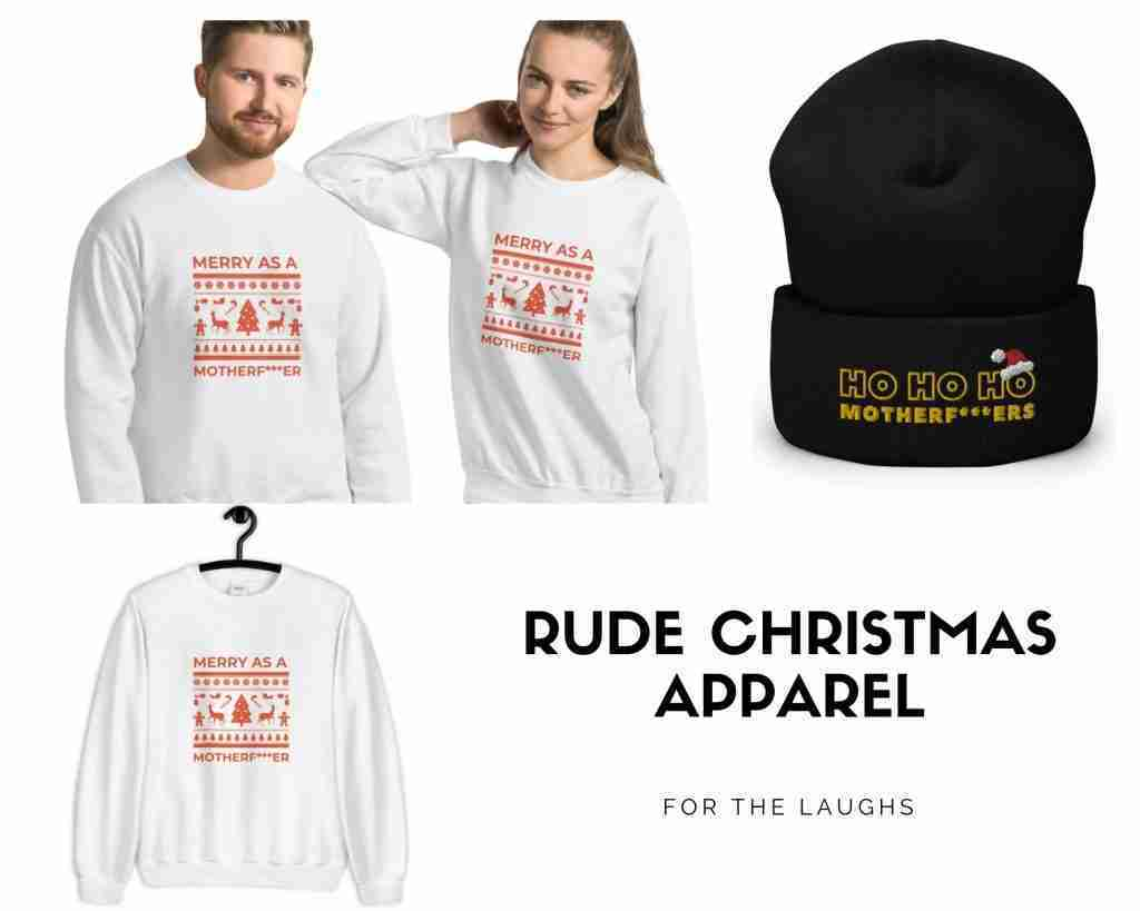 Rude Christmas Sweater - Funny Christmas Clothes